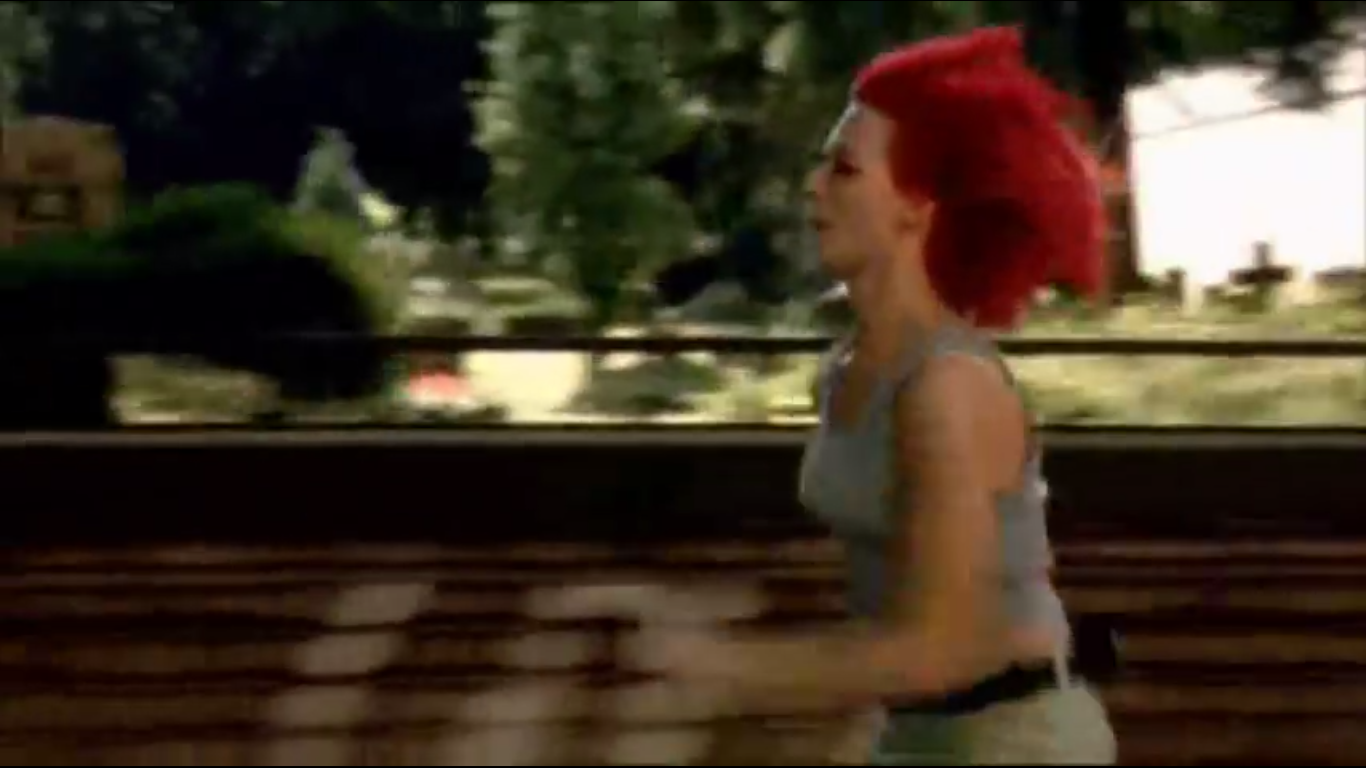 run lola run a snap shot of modern german film 4 star films it is now the first time through and tykwer brings back the animation by depicting lola s descent down the stairs cartoonish images further developing